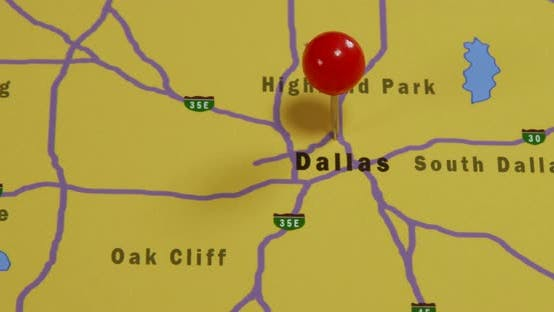 Thumbnail for Map Of Dallas Pinned 02b