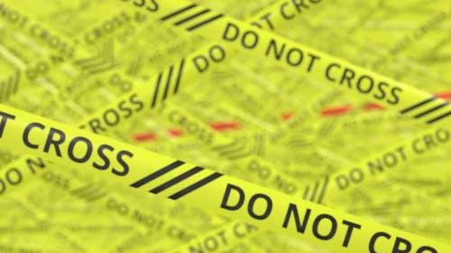 Warnbänder mit NICHT KREUZEN und CRIME SCENER-Text