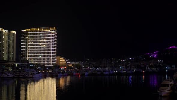 Thumbnail for Brightly Illuminated Sanya Dock