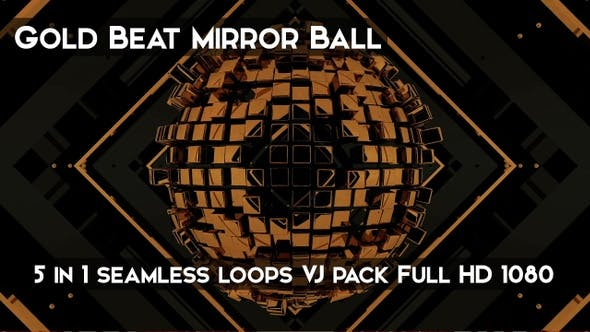 Thumbnail for Gold Beat Mirror Ball VJ Loops