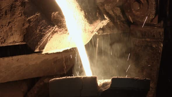 Thumbnail for The Molten Metal Pours Into The Mold