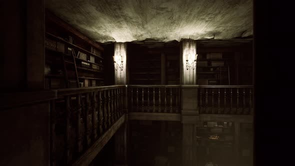 Old Dark Classical Library Room