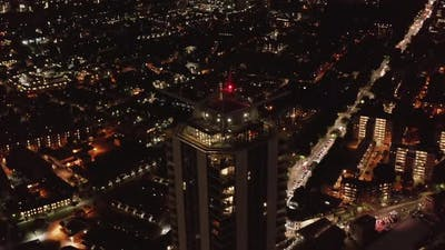 Aerial Shot of Night Cityscape