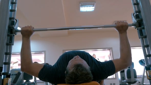 Thumbnail for Strong Man Working On Bench Press