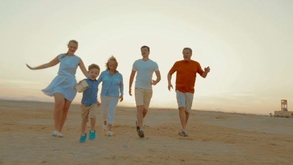 Thumbnail for Boy Is a Winner Of Family Race Outdoor