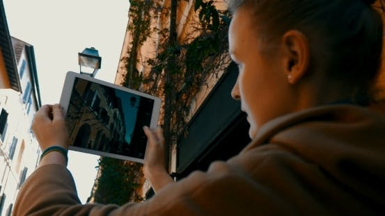 Thumbnail for Tourist Taking Architecture Pictures Using Touch
