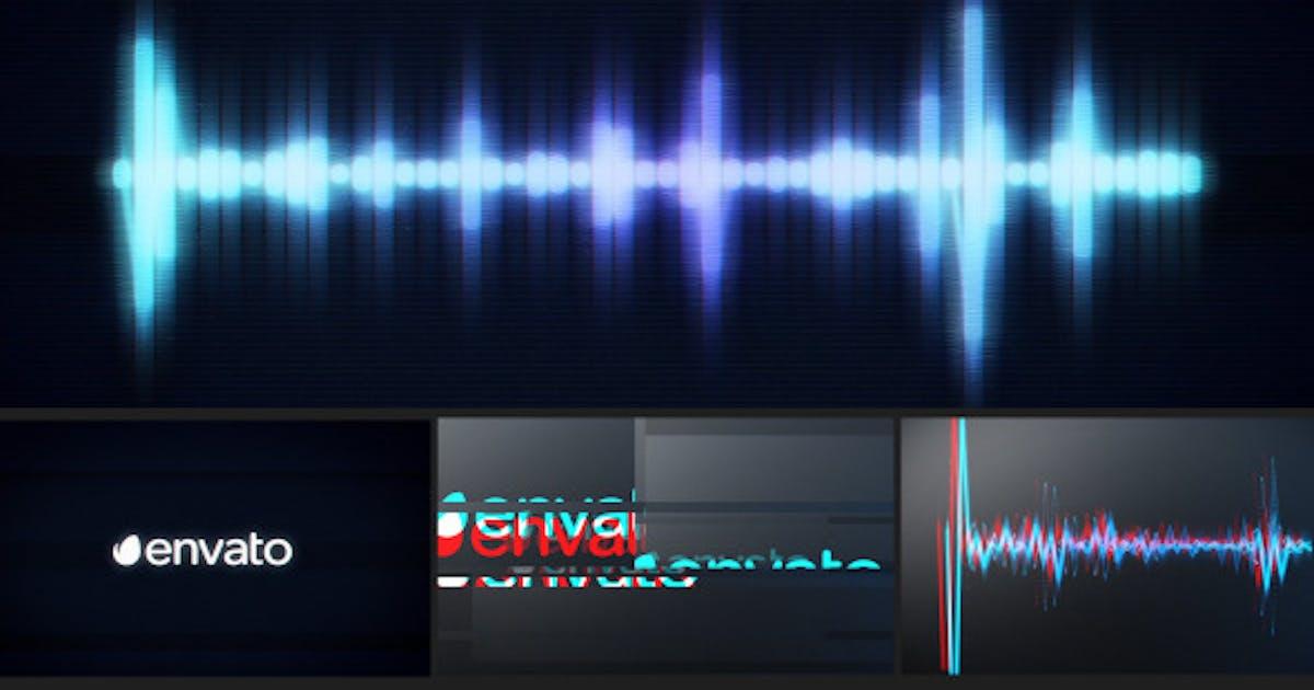 Glitch Logo Music Visualizer by NeuronFX