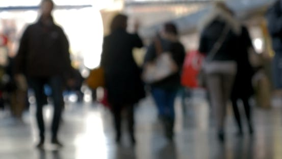 Thumbnail for Crowd Of People Walking At The Station