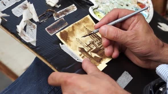 Thumbnail for Artist Painting In Florence (5 Of 5)