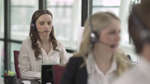 Thumbnail for Caucasian Woman Works In A Attractive Modern Call Center (2 Of 4)