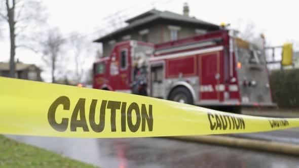 Caution Tape Near A Fire Truck (1 Of 3)