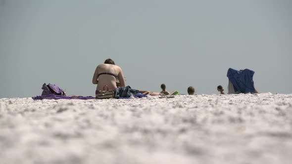 Thumbnail for People Relaxing On A Busy Beach (3 Of 11)
