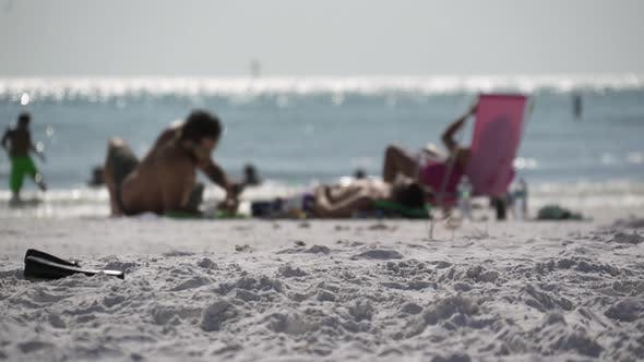 Thumbnail for People Relaxing On A Busy Beach (5 Of 11)