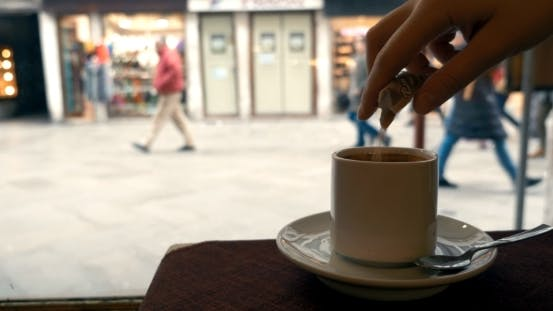 Thumbnail for Woman Having Coffee By The Window In Cafe