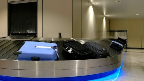 Baggage Claim Area At The Airport