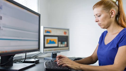 Thumbnail for Woman Working at a Computer 22