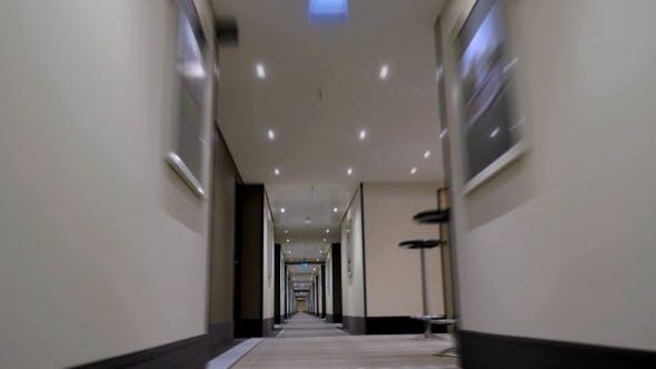 Thumbnail for Timelapse Of Moving Forward In Empty Light Hotel