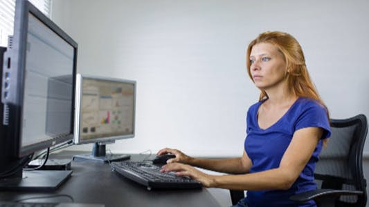 Thumbnail for Woman Working at a Computer 30