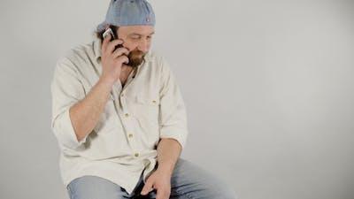 Happy Man Mobile Talk