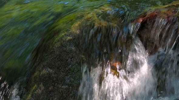 Stream Water Rapidly Falling