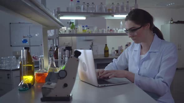Scientist Wearing in White Coat - product preview 0