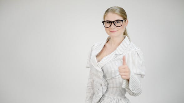 Thumbnail for Businesswoman Shows Thumb Up Sign