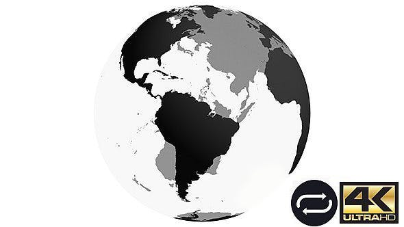 Spinning Earth Globe - BLACK