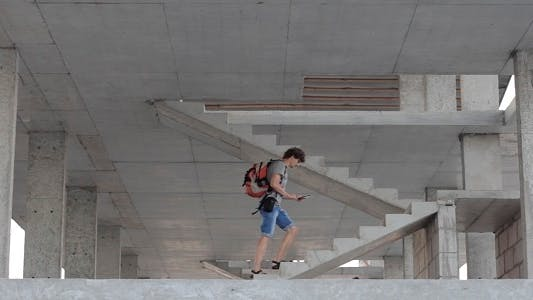 Thumbnail for Man Climbs Up The Stairs