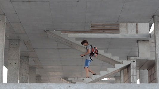 Thumbnail for Man Coming Down The Stairs
