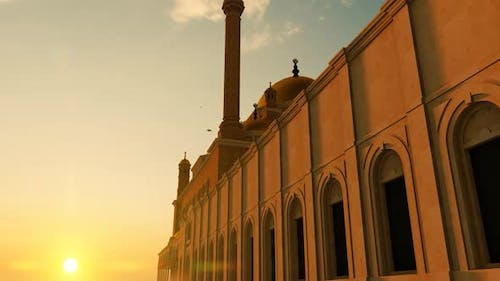 Grand Mosque with 4 Minarets