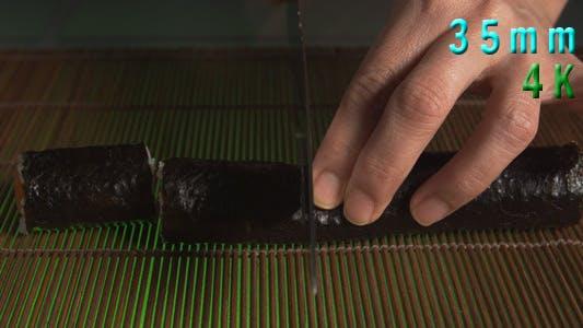 Thumbnail for Cutting Sushi Rolls 10
