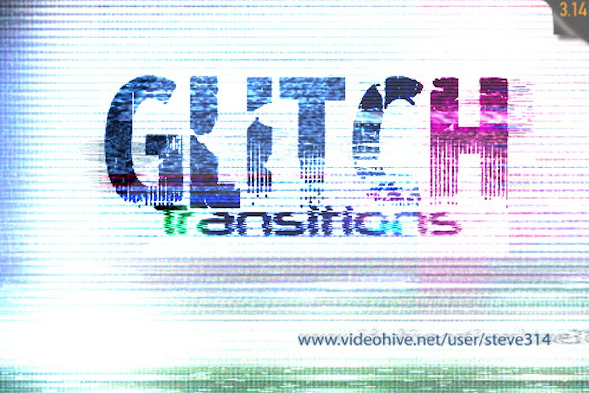Glitch Transitions by steve314 on Envato Elements