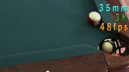 Billiard Balls Going Into The Corner Pocket 17