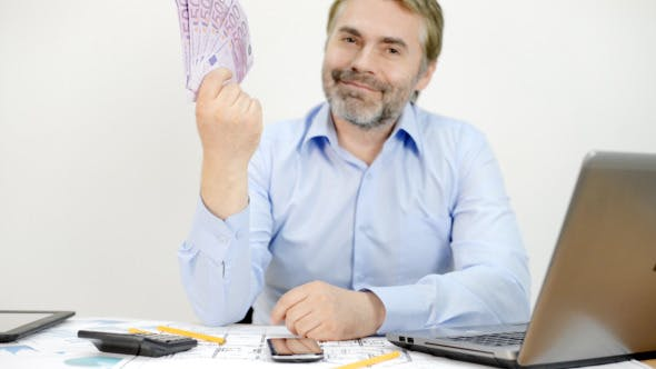Thumbnail for Successful Businessman with Money