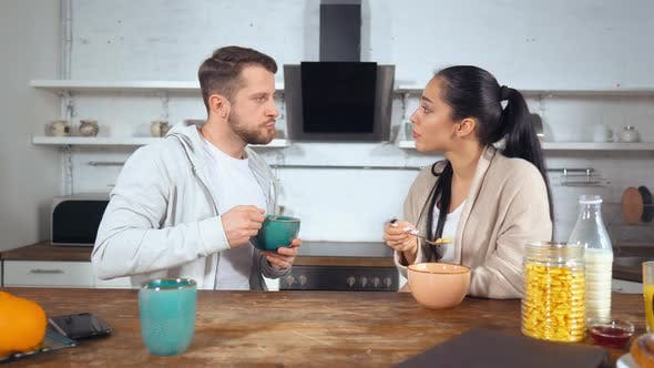 Thumbnail for Couple Enjoy Morning in the Kitchen