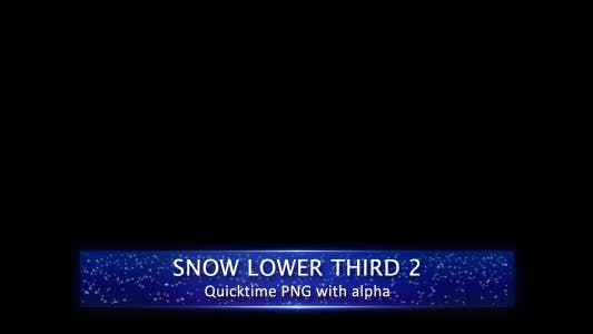 Thumbnail for Snow Lower Third 2