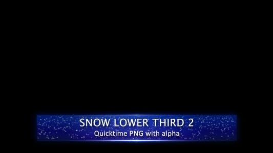 Snow Lower Third 2