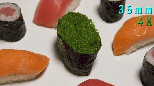 Thumbnail for Assorted Sushi With Green Caviar 13