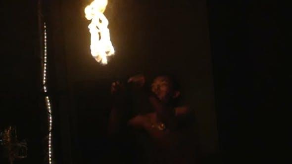 Thumbnail for Fire Show Artist Blow Fire