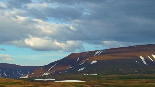 The Mountain and the Sky in the Arctic Circle