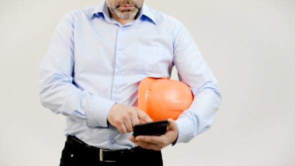 Engineer Using Calculator