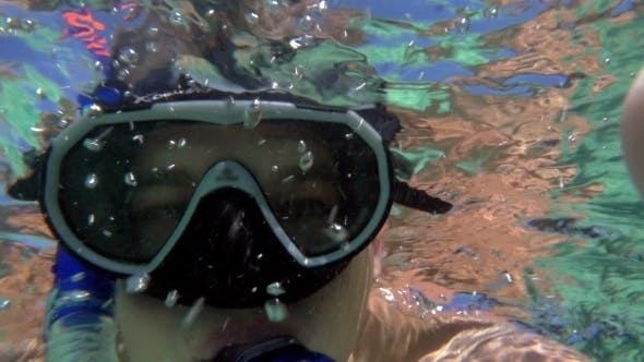 Thumbnail for Young Man Making Underwater Selfie