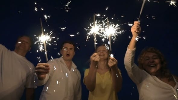 Thumbnail for Bright Holiday With Firework Sparklers