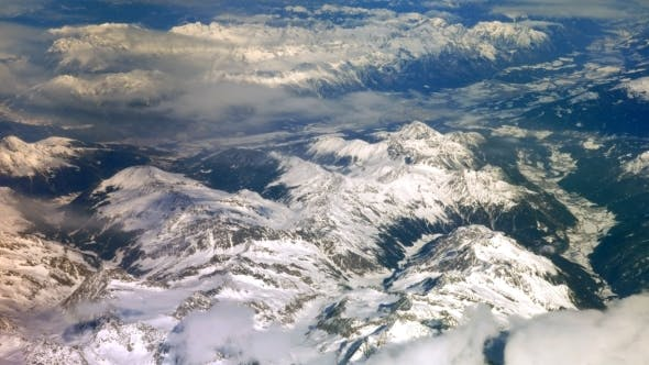 Thumbnail for View Of The Mountains From The Plane
