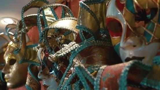 Thumbnail for Bright Colorful Venetian Masks