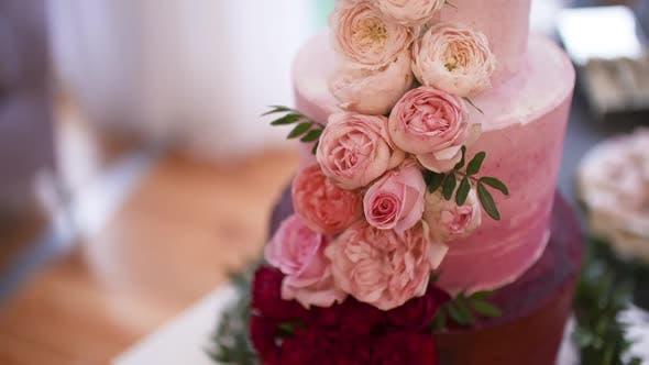 Wedding Cake at Wedding Reception