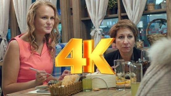 Thumbnail for Women Having Dinner At The Restaurant