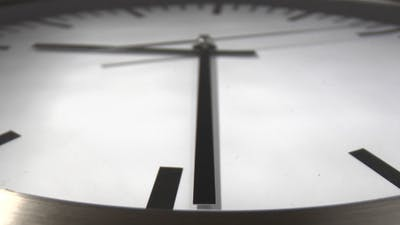 Clock with white clock face