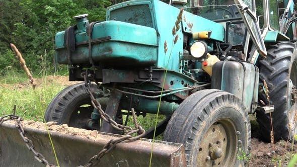Thumbnail for Old Soviet Tractor or  Excavator 2