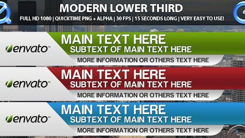 Modern Lower Third